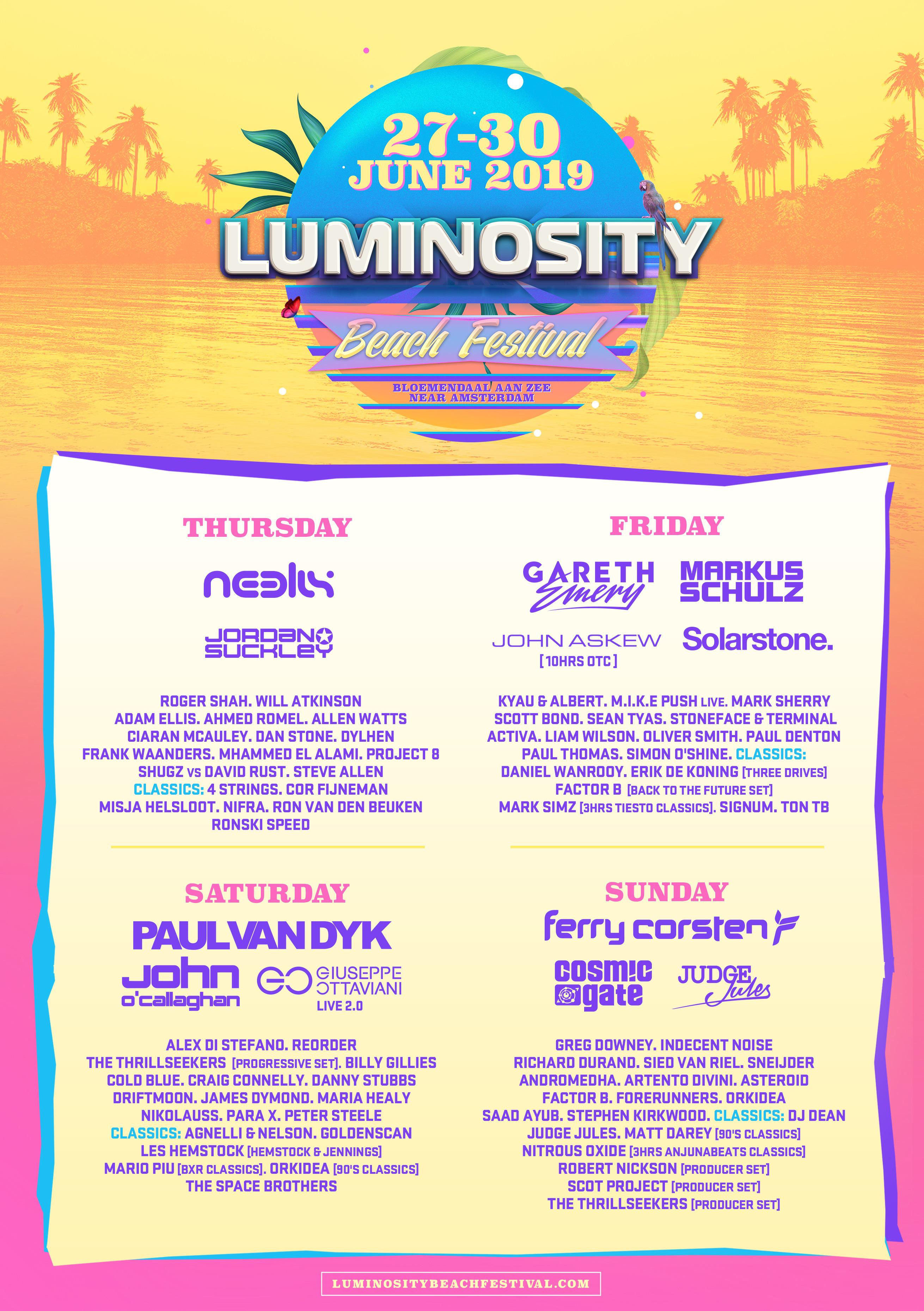 Luminosity Beach Festival 2019   Luminosity Events